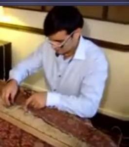 Réparation de tapis persan